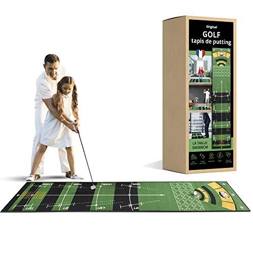 inedit Tapis Putting Golf 3m - TESTÉ ET APPROUVÉ par Un Pro FRANÇAIS - Tapis de Golf Intérieur Extérieur - Tapis d