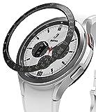 Ringke Bezel Styling Compatible con Protector Samsung Galaxy Watch 4 Classic (46mm) Carcasa Adhesiva Acero Inoxidable para Reloj Bisel, Funda Galaxy Watch 4 Classic 46mm - 46-03 (ST) Black
