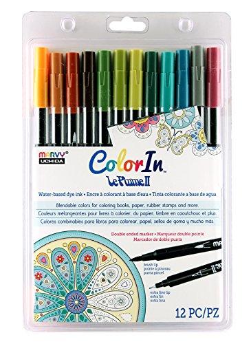 UCHIDA 12 Piece LePlume II Book Pens Art Supplies, Natural