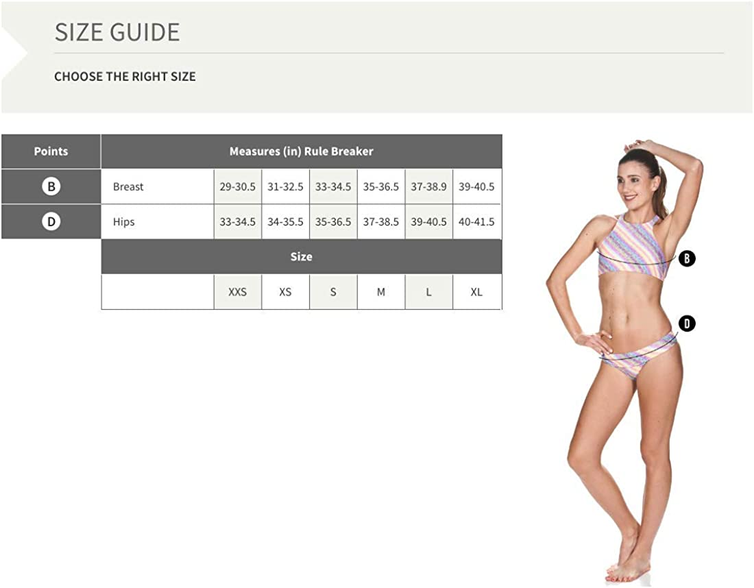 Arena Womens Rule Breaker Be Bandeau MaxLife Bikini Top
