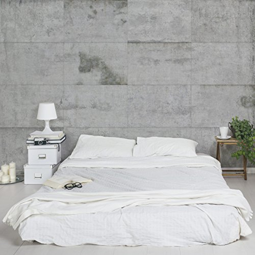 Apalis Tapete Betonoptik Vliestapete Große Betonplatten Fototapete Breit | Vlies Tapete Wandtapete Wandbild Foto 3D Fototapete für Schlafzimmer Wohnzimmer Küche | mehrfarbig, 106127
