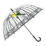 DAXINYANG Paraguas Transparente Creativa De La Jaula De Pájaros del Parasol De Largo Mango Paraguas 8 Costillas Herramientas De Lluvia Paraguas Muchachas De Las Mujeres Al Aire Libre Y Sunny