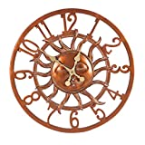 Cape Craftsmen Modern Farmhouse Stunning Sunface Outdoor Clock Wall Decor - 24 x 3 x 24 Inches Cottage Style Decoration for Homes, Apartments, Yards and Gardens