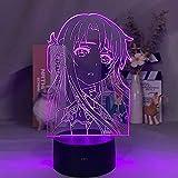 3D Night Light Anime Sword Art Online Asuna Lámpara de imagen 3D Smart Phone Control Visual LED Regalo de cumpleaños Luz de noche suave para niños (con mando a distancia) - Negro con mando a distancia