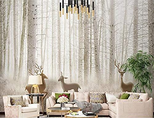 XHXI Fantasy Forest Sidewall Wallpaper Elch Dschungelgras für zu Hause Schlafzimmer Wohnzimmer Wallpaper Wandverkleidung Dekoratio fototapete 3d Tapete effekt Vlies wandbild Schlafzimmer-150cm×105cm