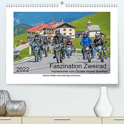 Faszination Zweirad - Impressionen vom Ötztaler Moped Marathon (Premium, hochwertiger DIN A2 Wandkalender 2022, Kunstdruck in Hochglanz): Tollkühne ... tapfere Mopeds (Monatskalender, 14 Seiten )