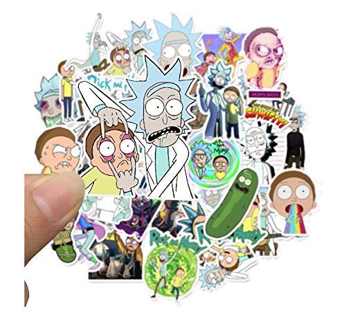 100 Stks Cartoon Rick En Morty Anime Stickers Op De Laptop Kids Stickers Speelgoed Voor Auto Koffer Plakboek