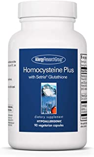 Allergy Research Group - Homocysteine Plus - B Vitamins, Glutathione, 5-MTHF - 90 Vegetarian Capsules