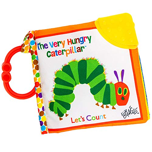 Let's Count Soft Book - World of Eric Carle The Very Hungry Caterpillar Baby Teething Crinkle Book
