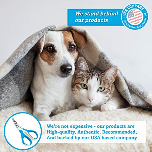 BOSHEL Cat Nail Clipper – Razor-Sharp, Angled & Safe Cat Nail Trimmers – Comfy Ergonomic Non-Slip Handle Pet Nail Clippers - Cat Claw Trimmers for Small Dogs and Cats