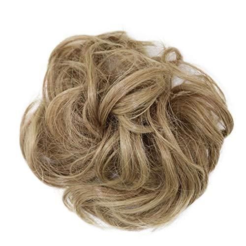 Femmes Hot synthétique flexible cheveux bouclés Buns Scrunchy Chignon élastique Messy onduleux Chouchous Wrap Ponytail Extensions for les femmes pour les femmes Cosplay Party (Color : 12)