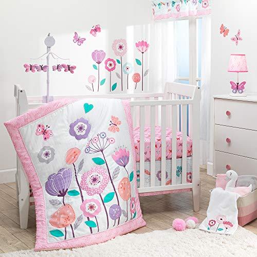 Bedtime Originals 3 Piece Crib Bedding Set, Magic Garden, Multicolor