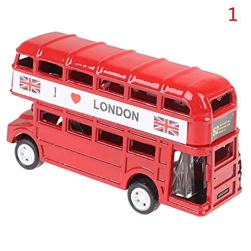 FEIYI lindo 9 cm de aleación de autobús modelo de juguete colección de juguetes de coche niños regalo sacapuntas accesorios escolares (color: 1)