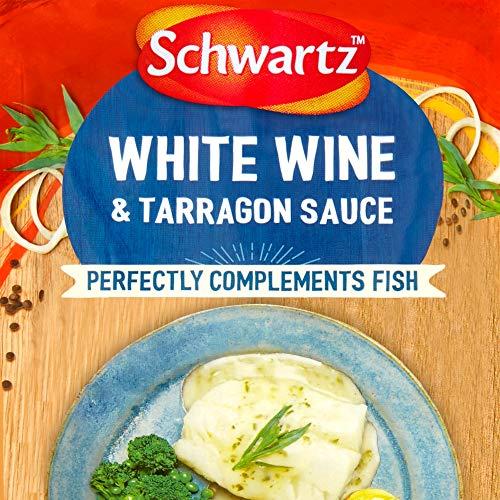 Schwartz Weißwein & Estragon Sauce für Fisch, 300 g