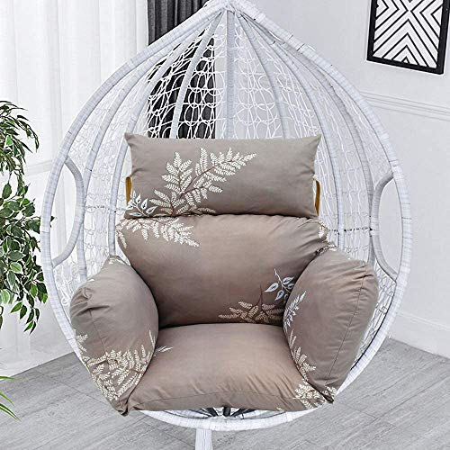 Hammock Chair Cushion, Egg Hanging Basket Seat Cushion Non-slip Swing Chair Cushion with Zipper Design for Rest and Relax Not Including Chair (Leaf Dream)