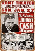 2個 8 x 12 cm メタル サイン - ジョニー キャッシュ ショー メタルプレート レトロ アメリカン ブリキ 看板