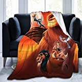 WENShop Simba The King Lion Blanket Oversized Warm Adult Super Soft Blanket with Soft Anti-Pilling Flannel for Adults & Kids 3D Print 50x40 in ¡