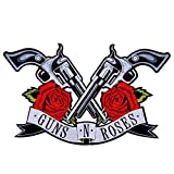 New! Guns Roses Patches 21X36cm Iron on Patch/Embroidered Patch This Appliques are Great for T-Shirt, Jean,Jacket, Backpack