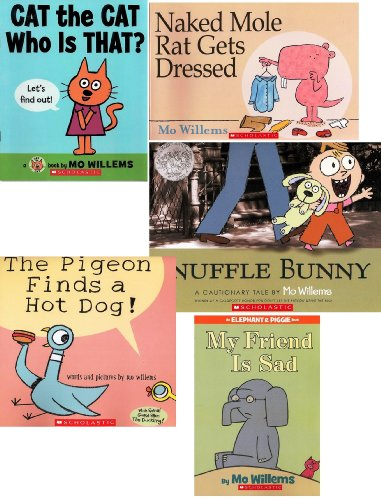 Mo Willems Collection : Knuffle Bunny / The Pigeon Finds a Hot Dog! / My Friend is Sad / Cat the Cat Who Is That? / Naked Mole Rat Gets Dressed
