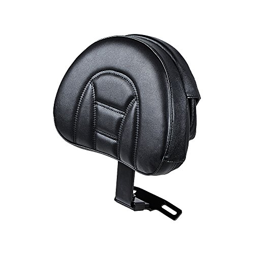 10 5/8' x 8 1/4' Adjustable Driver Rider Backrest Compatible with 07-17 Harley Heritage Softail Fatboy