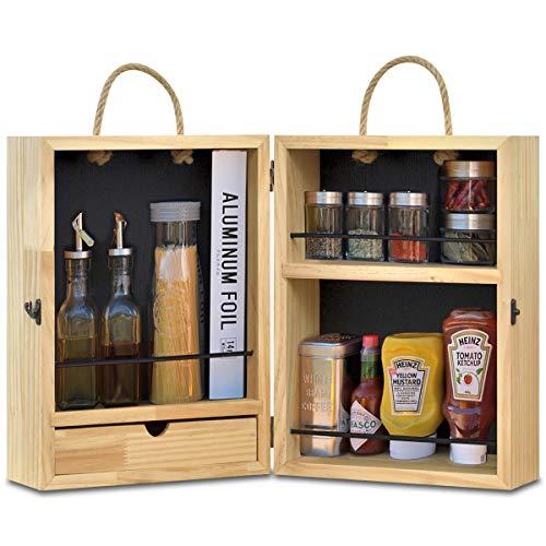 FIELDOOR 木製スパイスボックス アウトドア キャンプ キッチン 調味料 クッキングツール ケース 収納 おかもち