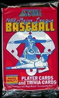 1988 Score Baseball Cards Hobby Pack (17 cards per pack)