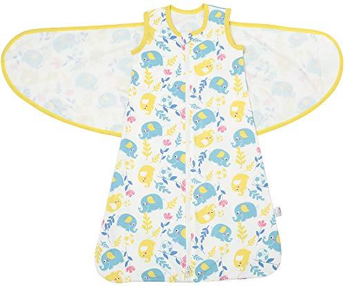 Bebé Saco de Dormir Algodón Swaddle Wrap Manta 0-6Mes Suave y Transpirable Saco de Dormir Bebé...