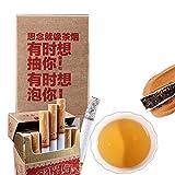 Mabanglai puerh Té Cigarrillos sin tabaco no nicotina Té verde Puer Té Té crudo Árboles viejos Pu erh Té Peso neto 30 g / bolsa (0.066LB) (1)