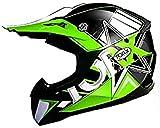 TORX Casco Moto Peter Kid Fluo, Verde, Taglia M