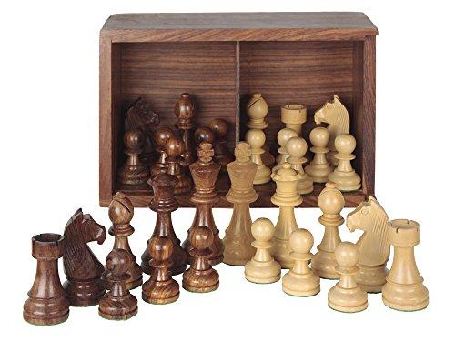 Aquamarine Games - Piezas de ajedrez Staunton 5 en Caja, Juego (Compudid ST5)