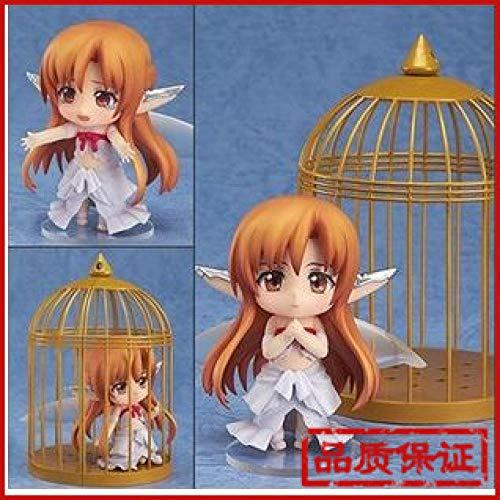 Pequena Escultura Q Version Arcilla Asuna Fairy Bird Jaula Muneca Que Cambia La Cara Figura En Caja Modelo de Personaje Modelo De Anime De Alta Calidadpvc Figura De Accion Coleccion Modelo Juguetes