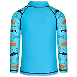 TFJH E Kids Boys Swimsuit UPF 50+ UV Sun Protective 2PCS Swimwear...