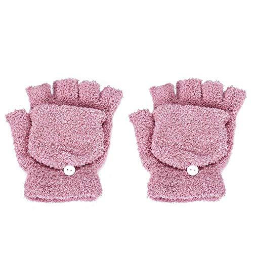 Badry Mädchen Frauen Damen Hand Handgelenkwärmer Winter Fingerlose Handschuhe Fäustling Weibliche Handschuhe Frauen Winter Warm Glovespink One Size