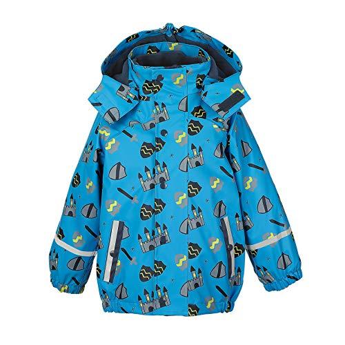 Sterntaler Jungen Regenjacke mit Innenjacke, 3in1 Multifunktionsjacke, Alter: 5-6 Jahre, Größe: 116, Blau (Azurblau)