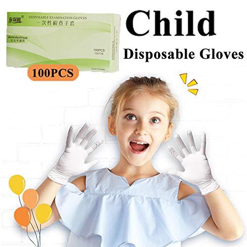guanti lattice bambini WLKK Guanti in Nitrile monouso 100 Pezzi per Bambino XS Lattice Doodle Lavoro in Gomma da Giardino Cucina lavastoviglie Guanti
