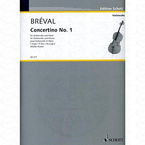 CONCERTINO 1 F-DUR - arrangiert für Violoncello - Klavier [Noten/Sheetmusic] Komponist : BREVAL JEAN BAPTISTE