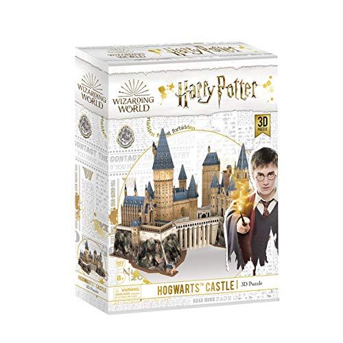 World Brands- Harry Potter-Castillo de Hogwarts Puzzles 3D, Kit de Construcción, Multicolor (Cubic Fun DS1013H)