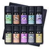 Lagunamoon Aceites Esenciales, Top 10 Set de Regalo de Aceites de Aromaterapia de Lavanda, Eucalipto, Menta, Romero, Aceites Esenciales para Humidificadores, 100% Puros
