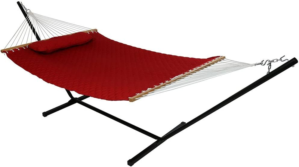 Sunnydaze Be super welcome 55% OFF 2-Person Freestanding Double Hammock with 12-Foot Stan