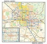 Phoenix, Arizona Wall Map, Small - 11.25' x 10.75' Matte Plastic