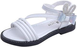 Sandales Fille Eté Enfants Sandales Mode Nœud Papillon Filles Plates Chaussures Grande Taille Kids Chaussures de Plage 26-36