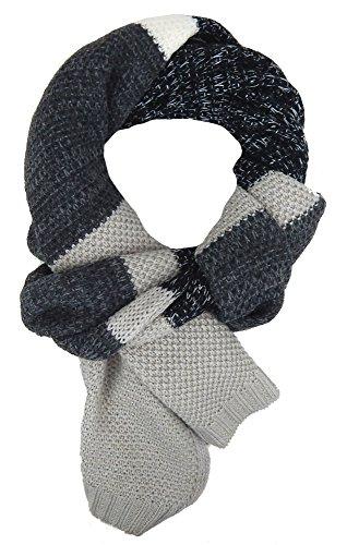 Ella Jonte Écharpes foulard d'homme hiver élégant et tendance de la dernière collection by Casual-style noir gris beige
