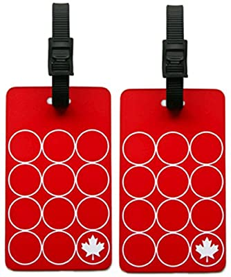 ORB Travel 2-Pack Luggage Tags (EM201 - Red/White)