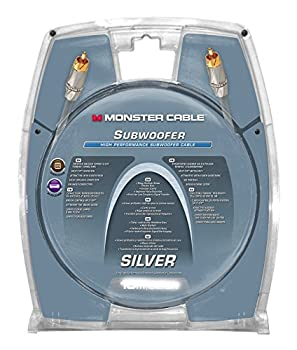 Monster Silver High Performance Subwoofer Cable - 24 Feet