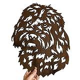 Image Industry Cockapoo Dog Garden Art Sculpture/Garden Ornament/Rusty Metal Dog/Metal Garden Sculpture/Metal Art (Medium 431mm x 529mm)