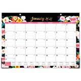 2021 Desk Calendar - Yearly Desk Calendar 2021, Desk/Wall Monthly Calendar Pad, 17' x 12', January 2021 - December 2021, Ruled Blocks