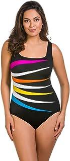 e1fced8ddc6 Longitude Multi Colorblock Fan One Piece Swimsuit Size 10
