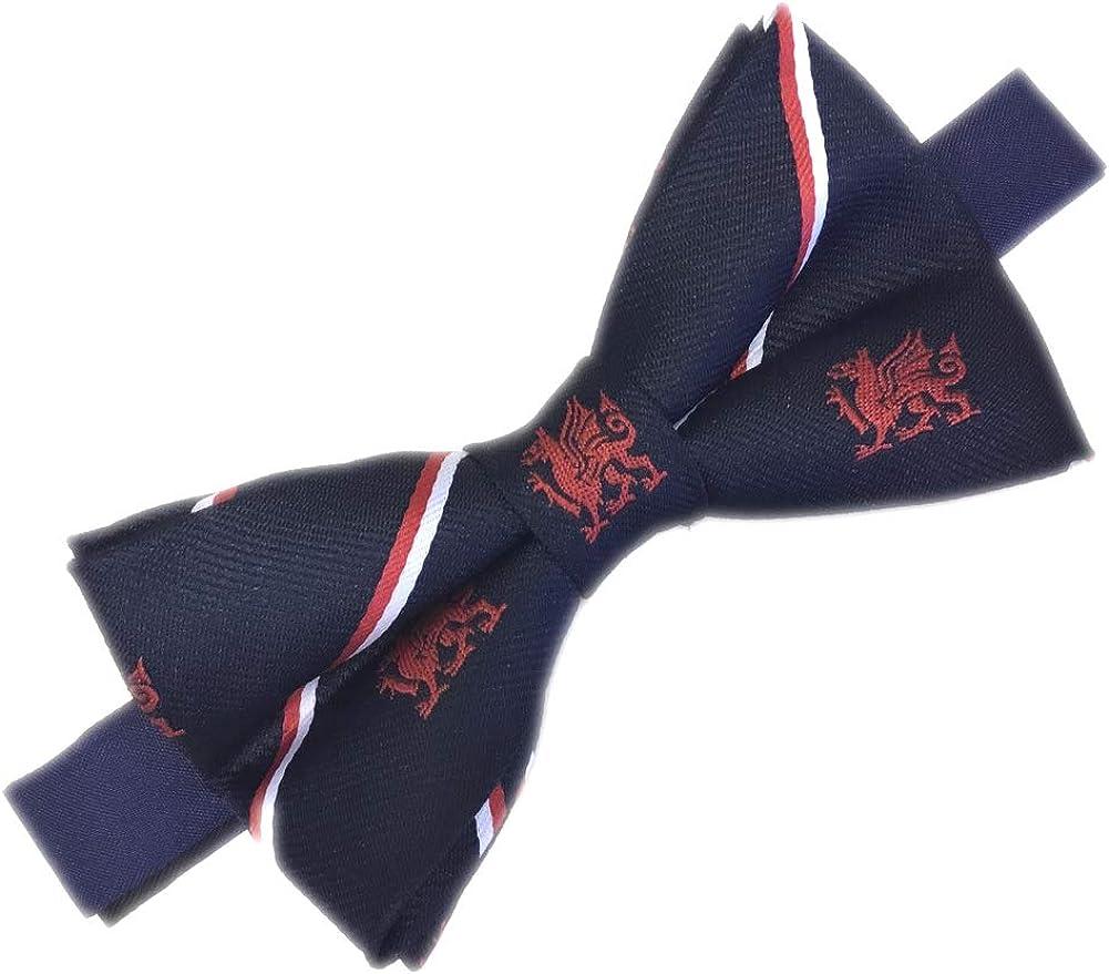 Men's Navy Welsh Dragon Bow Tie