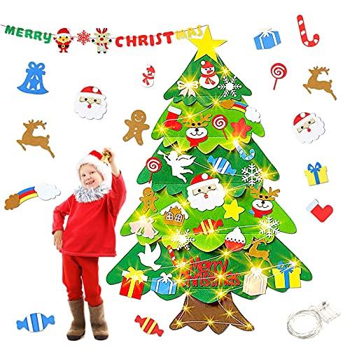 HapagToy Fieltro Árbol de Navidad, 3,28 Pieds Arbol de Navidad 50 Luces...
