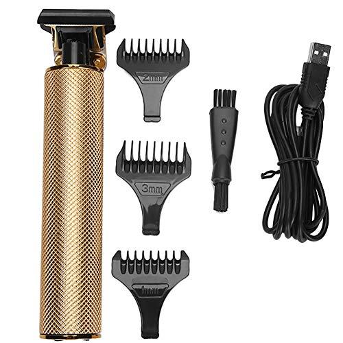 Máquina de pelo, kit de corte de pelo eléctrico Cortadora de pelo inalámbrica portátil Cortadora de pelo eléctrica USB recargable con peine de límite para cortar el pelo